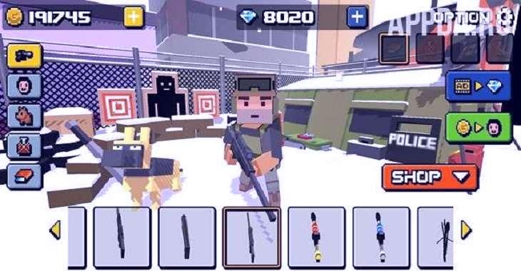 Чит коды на Cube Zombie Hunter, как взломать Деньги, Драгоценные камни и Монеты