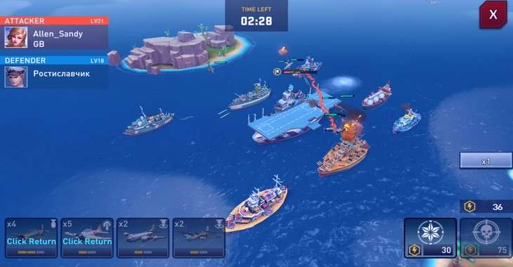 Чит коды на Battleship Clash Naval Warfare, как взломать Золото и Бриллианты