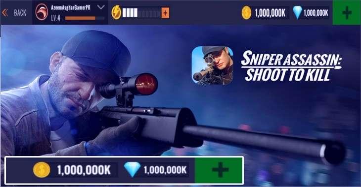 Чит коды на Sniper 3D Assassin, как взломать Монеты, Азмазы и Фишки